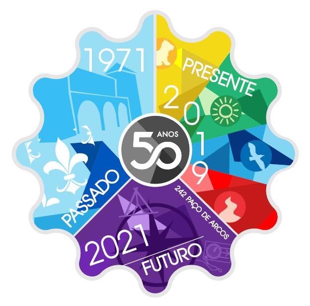 Insígnia triénio do agrupamento - comemoração dos 50 anos